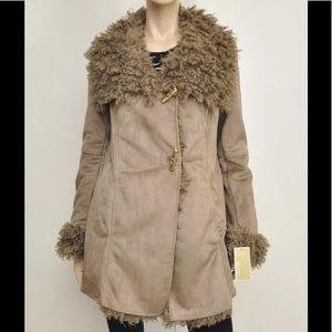 MICHAEL Michael Kors Faux Suede/Shearling Coat